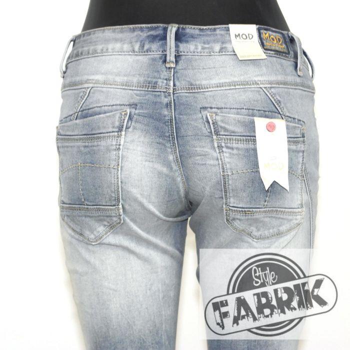 m o d damen jeans rea straight fit used look cheval blue. Black Bedroom Furniture Sets. Home Design Ideas