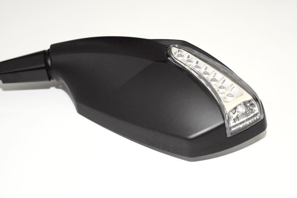 motorrad spiegel ravenna mit led blinker schwarz e. Black Bedroom Furniture Sets. Home Design Ideas