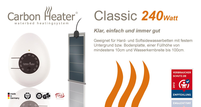 wasserbett heizung carbon heater 240 w analog. Black Bedroom Furniture Sets. Home Design Ideas