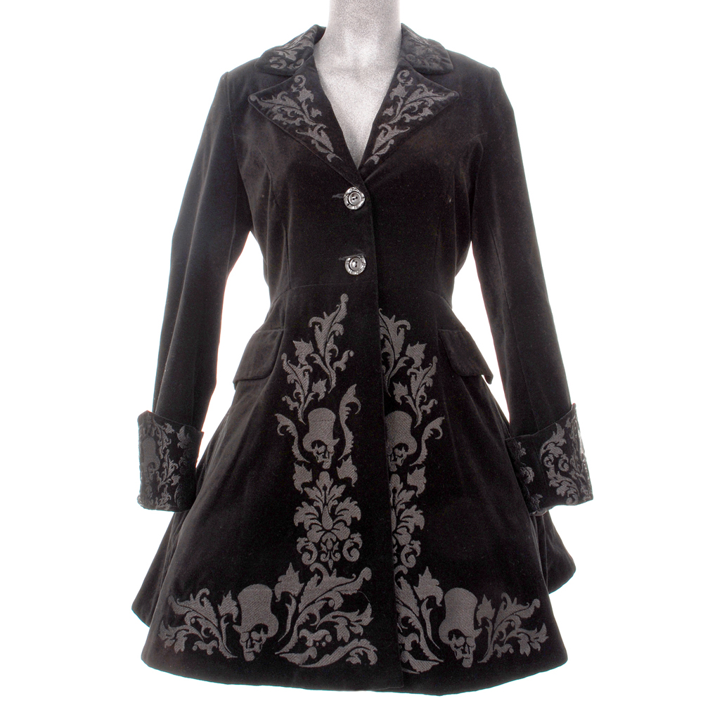 hell bunny mantel victorian gothic coat in schwarz ebay. Black Bedroom Furniture Sets. Home Design Ideas