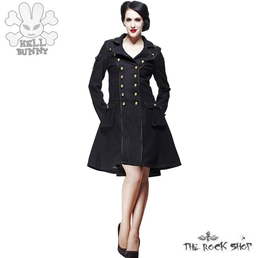 hell bunny imma coat mantel schwarz ebay. Black Bedroom Furniture Sets. Home Design Ideas