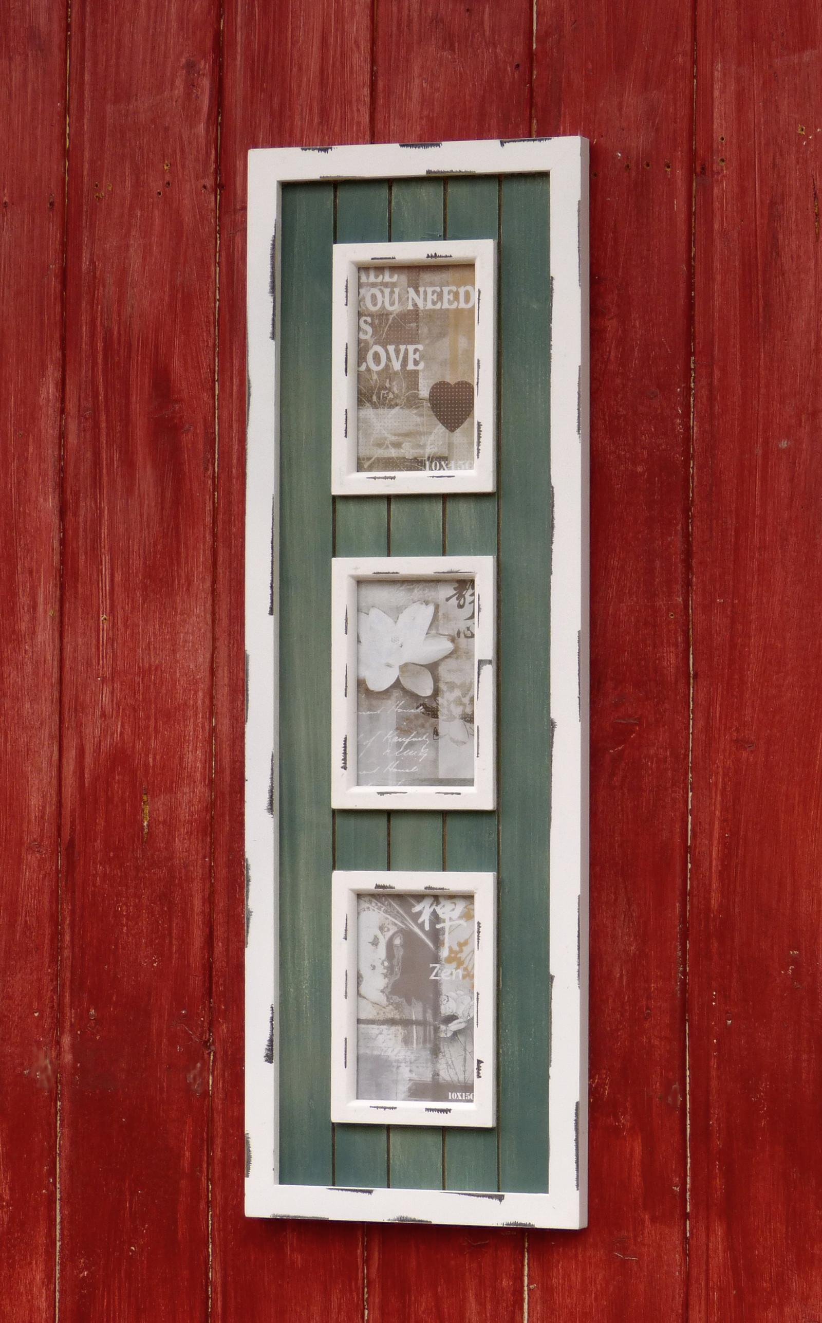 Bilderrahmen Holz FUr Leinwand ~ Bilderrahmen Holz für 3 Bilder Grösse 10cmx15cm im Landhaus Stil