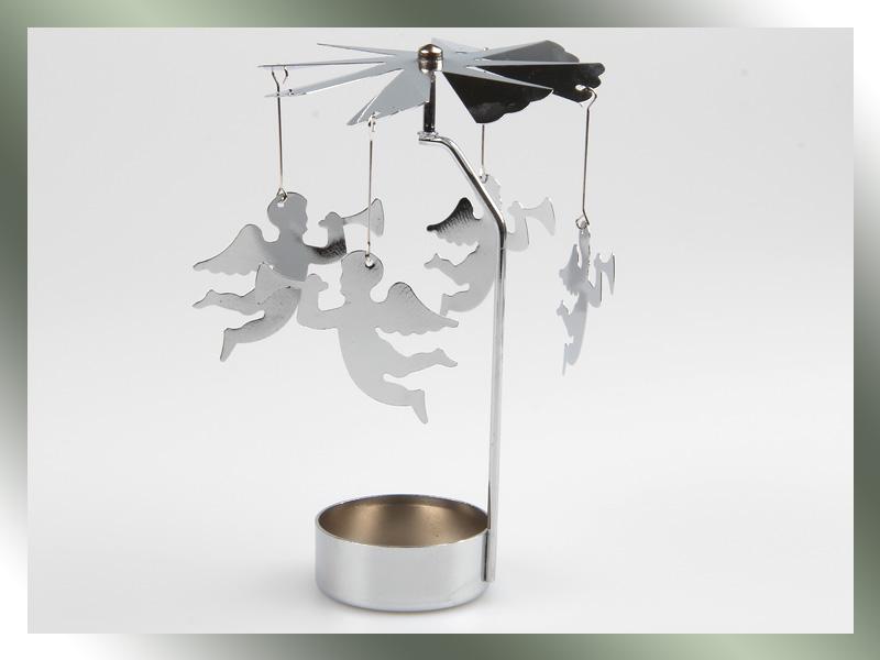 metall teelichthalter rotierender weihnachten pyramide. Black Bedroom Furniture Sets. Home Design Ideas