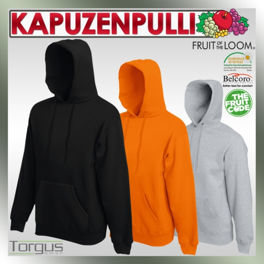 Pullover FRUIT OF THE LOOM Hooded Sweat Hoodie Kapuzen Pulli S M L XL XXL Shirt