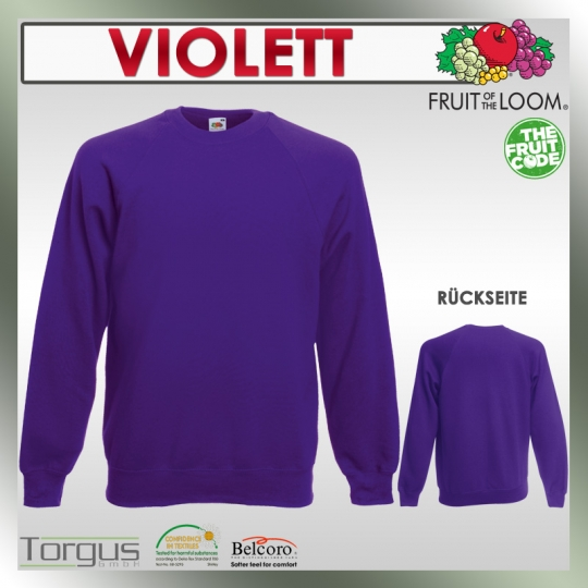 Pullover FRUIT OF THE LOOM Raglan Sweat Kapuzen Pulli S M L XL XXL Shirt Herren