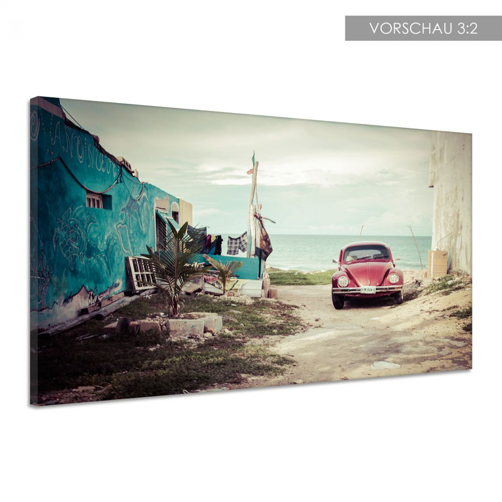 auto vw volks wagen k fer front oldtimer leinwand poster druck bild dd0734 ebay. Black Bedroom Furniture Sets. Home Design Ideas