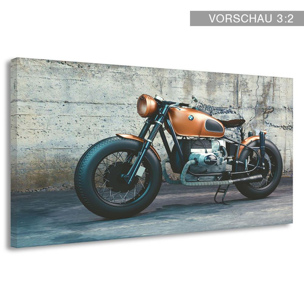 leinwand cafe racer motorrad biker retro klassiker poster druck bild b00094 ebay. Black Bedroom Furniture Sets. Home Design Ideas