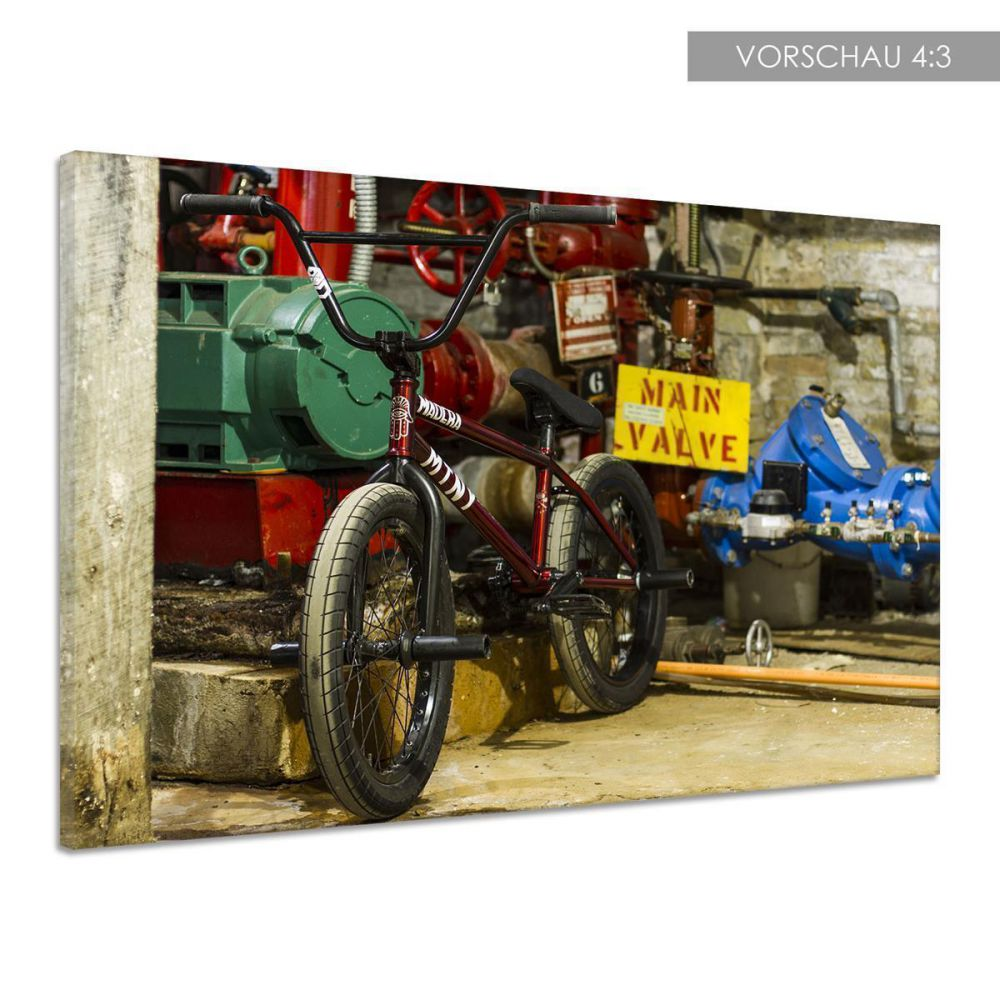 fahrrad bmx ketten garage lenkrad keller leinwand poster druck bild dd0423 ebay. Black Bedroom Furniture Sets. Home Design Ideas