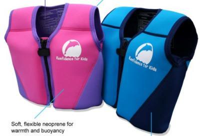 Details zu konfidence jacket kinder schwimmweste neopren pink violett