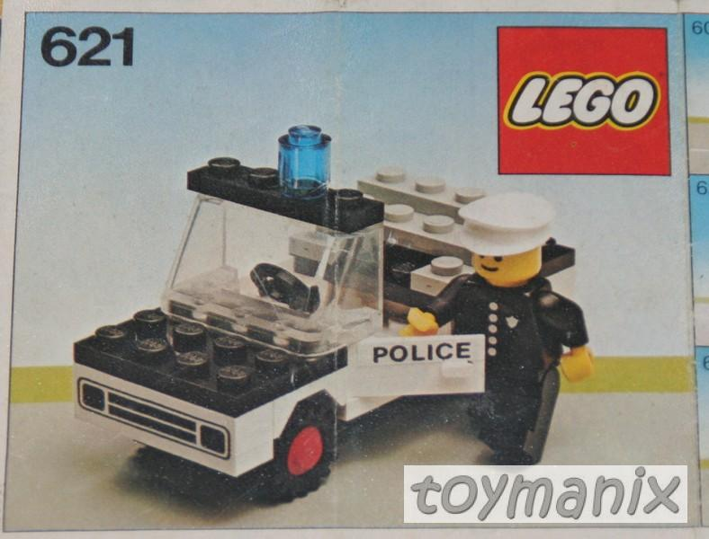 621 lego bauanleitung polizeiwagen police car ebay. Black Bedroom Furniture Sets. Home Design Ideas