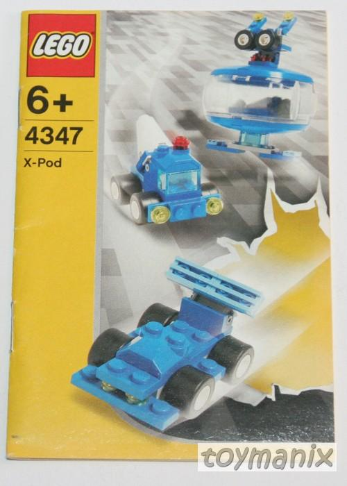 4347 lego bauanleitung instruction x pod roboter blau robo pod blue top ebay. Black Bedroom Furniture Sets. Home Design Ideas