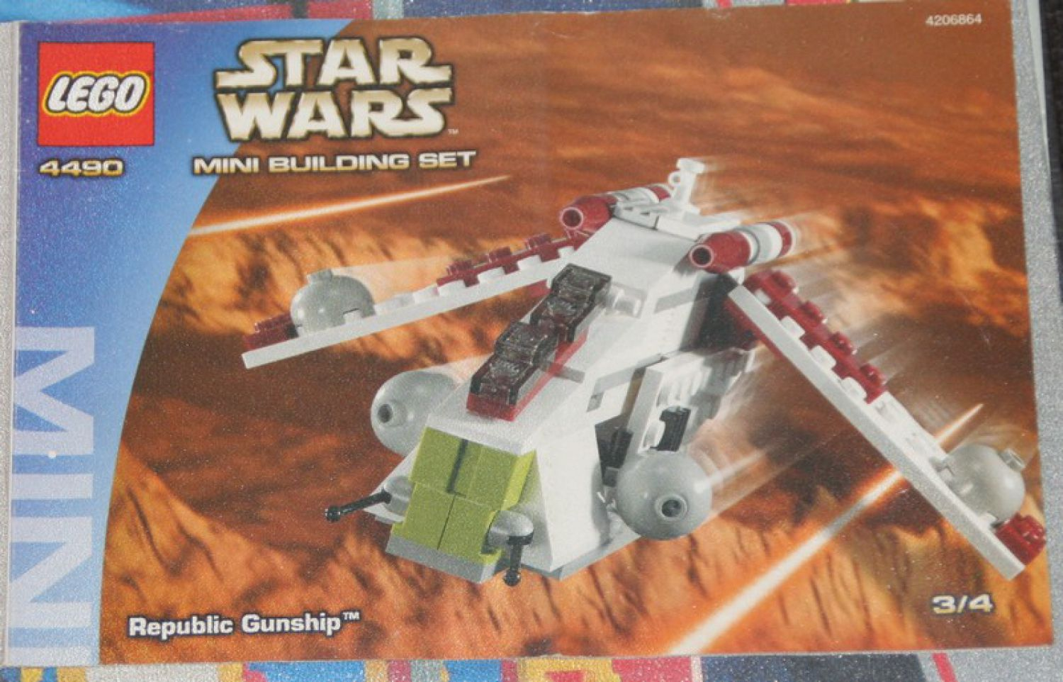 4490 lego bauanleitung star wars republic gunship top zustand ebay. Black Bedroom Furniture Sets. Home Design Ideas