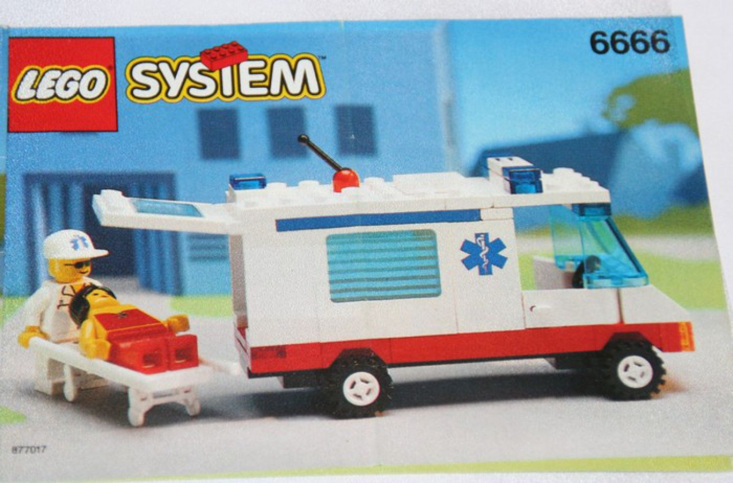 6666 lego recipe instruction ambulanza ambulance. Black Bedroom Furniture Sets. Home Design Ideas