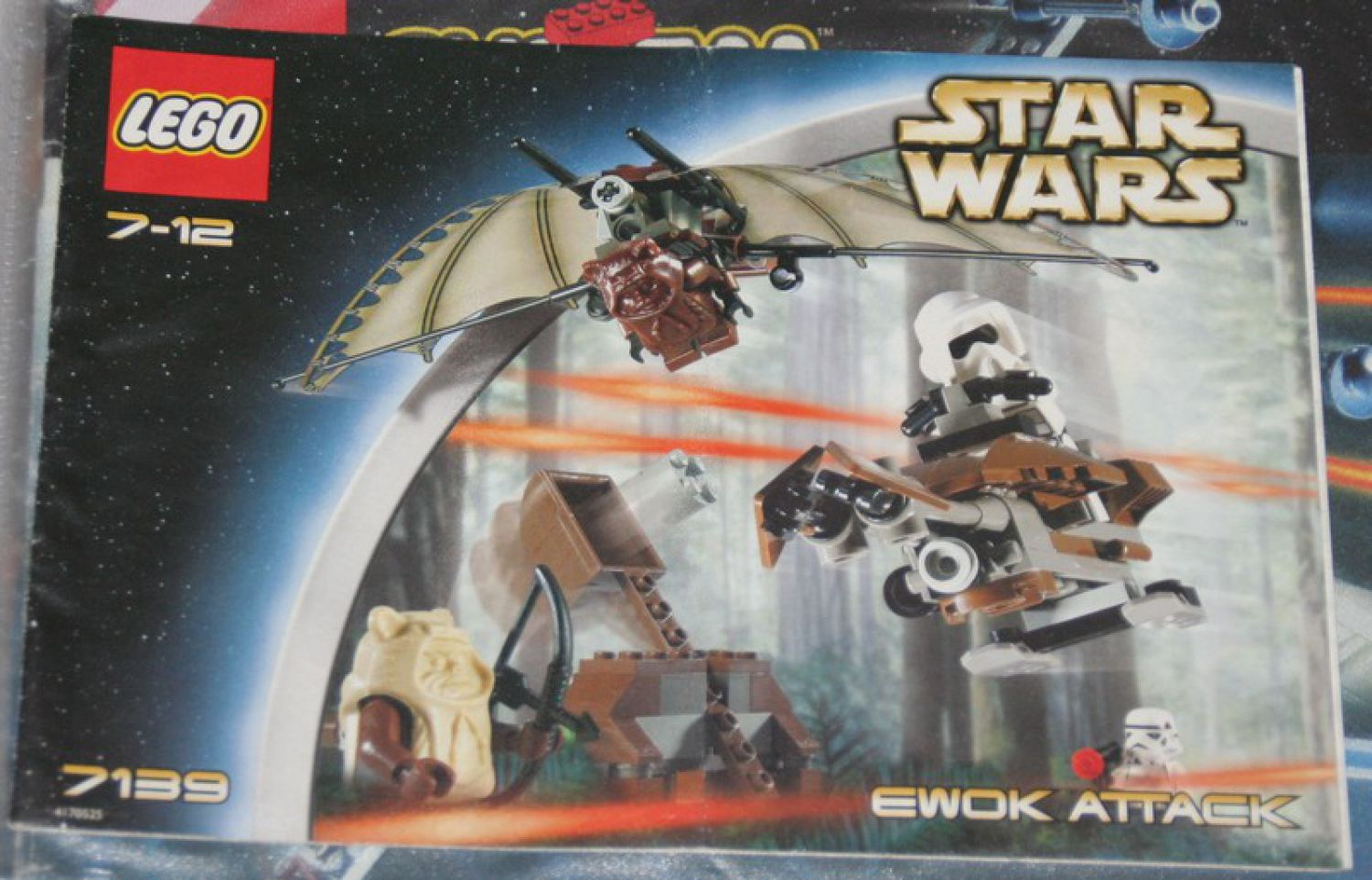 7139 lego bauanleitung instruction star wars ewok attack top zustand ebay. Black Bedroom Furniture Sets. Home Design Ideas