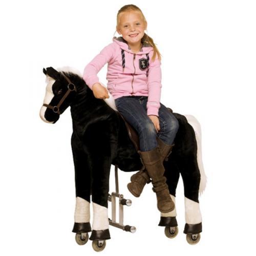 schaukelpferd reitpferd pl schtier kinderspielzeug pferd schaukel donner 93cm ebay. Black Bedroom Furniture Sets. Home Design Ideas
