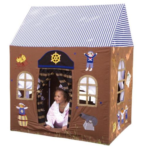 spielhaus pirat kinderspielhaus haus piraten kinderzelt drinnen drau en 165cm ebay. Black Bedroom Furniture Sets. Home Design Ideas