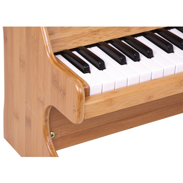 kinderklavier klavier elektrisch 41cm holz fl gel piano musik kinder mini natur. Black Bedroom Furniture Sets. Home Design Ideas