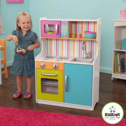 KidKraft Holz Spielküche bunt 60x88cm Holzküche Küche Spielküche ...