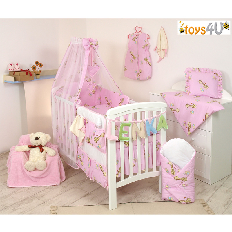 7tlg babybettw sche set 135x100 bettw sche nestchen baby. Black Bedroom Furniture Sets. Home Design Ideas