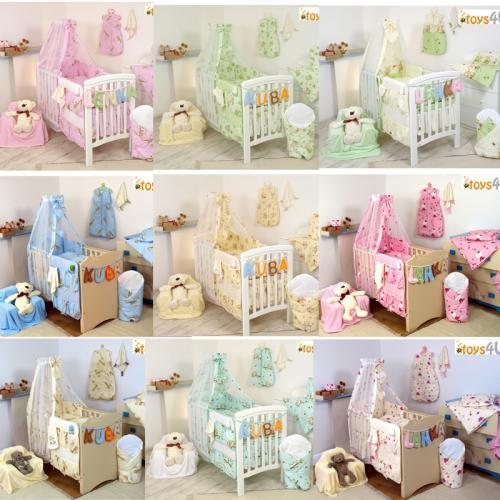 7tlg babybettw sche set 135x100 kinderbettw sche bettw sche himmel nestchen baby ebay. Black Bedroom Furniture Sets. Home Design Ideas