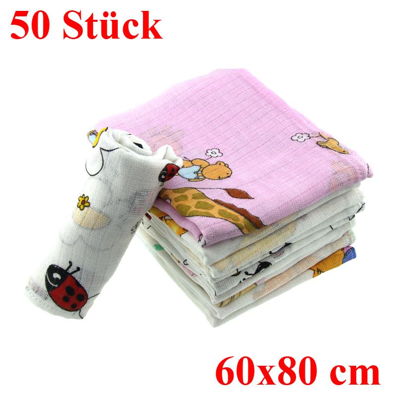 10-50er-Set-Stoffwindeln-bunt-Baumwolle-Spucktuecher-Mullwindeln-Spucktuch