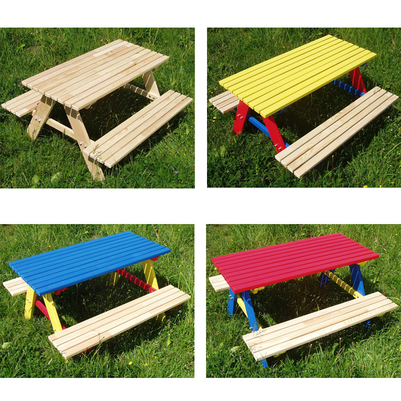 kindersitzgarnitur 4 sitzer kinder sitzgruppe holz garten tisch bank kindertisch ebay. Black Bedroom Furniture Sets. Home Design Ideas