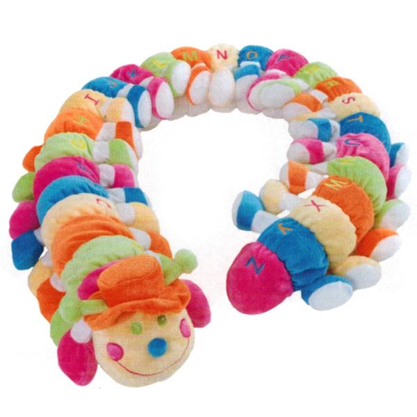 Stofftier Raupe Alphabet Spielzeug