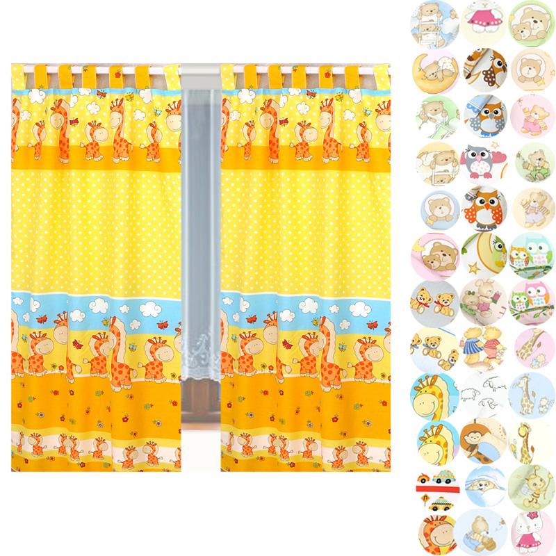 Vorhang Kinderzimmer Blickdicht : Set Kinderzimmer Vorhang 155x95cm (2 Stück) Gardinen Vorhänge mit