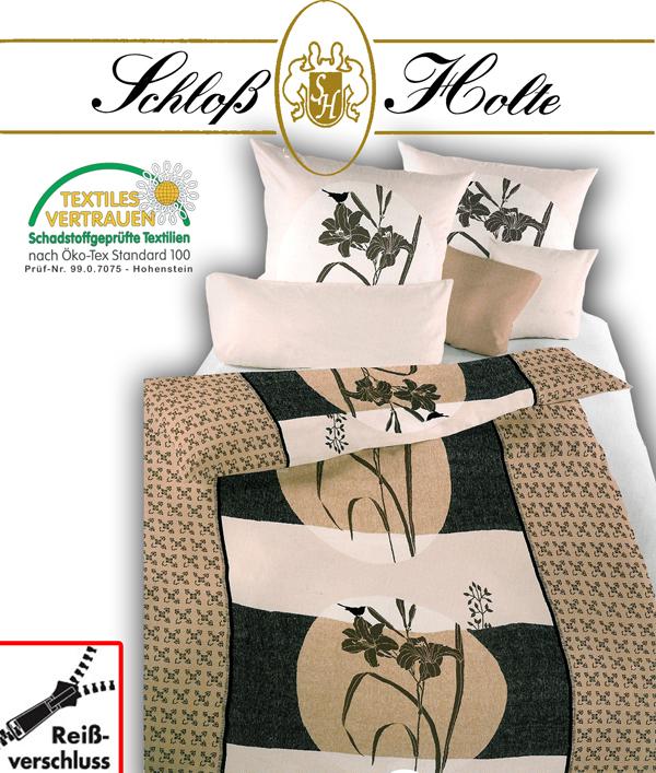 schlo holte mako baumwoll bettw sche royal satin. Black Bedroom Furniture Sets. Home Design Ideas
