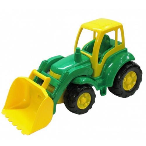 gro er bagger mit schaufel 48cm traktor sandspielzeug baufahrzeug spielzeug ebay. Black Bedroom Furniture Sets. Home Design Ideas