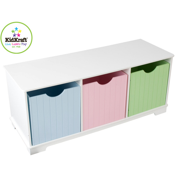 kidkraft spielzeugtruhe nantucket pastell truhe kindertruhe regal aufbewahrung ebay. Black Bedroom Furniture Sets. Home Design Ideas