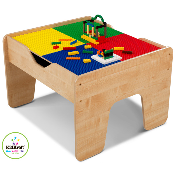kidkraft spieltisch 2 in 1 doppelseitiger tischplatte holzeisenbahn bausteine ebay. Black Bedroom Furniture Sets. Home Design Ideas