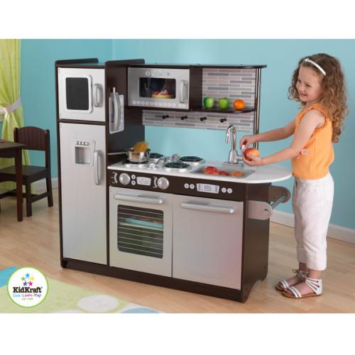kidkraft holz-kinderküche uptown espresso 109x104 holzküche küche,