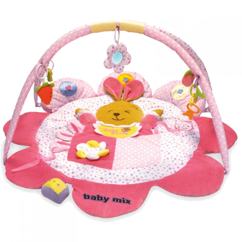 krabbeldecke mit spielbogen h schen 85x60cm babydecke decke baby spieldecke ebay. Black Bedroom Furniture Sets. Home Design Ideas
