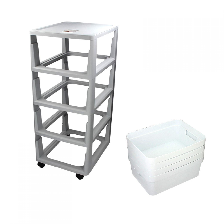 curver regal auf rollen schubladenregal schubladenschrank schubk sten box kiste ebay. Black Bedroom Furniture Sets. Home Design Ideas