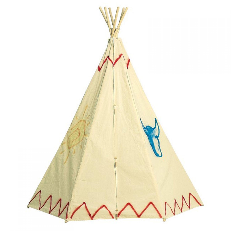 Tente indienne cabane pour jeux construction tipi jouet for Tente tipi exterieur
