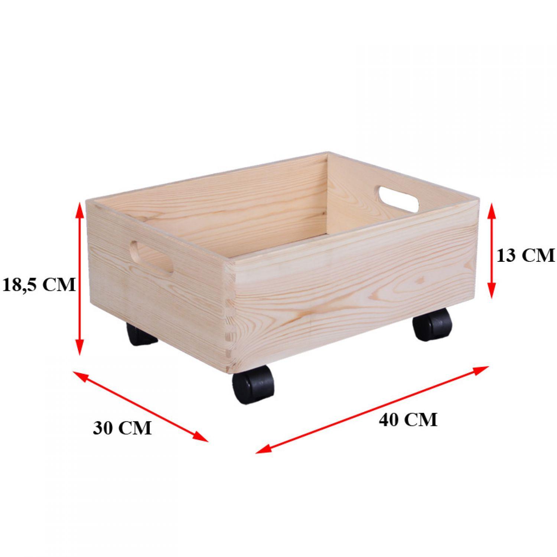 Holzkiste box auf rollen aufbewahrungsbox holzbox for Holzkiste kinderzimmer