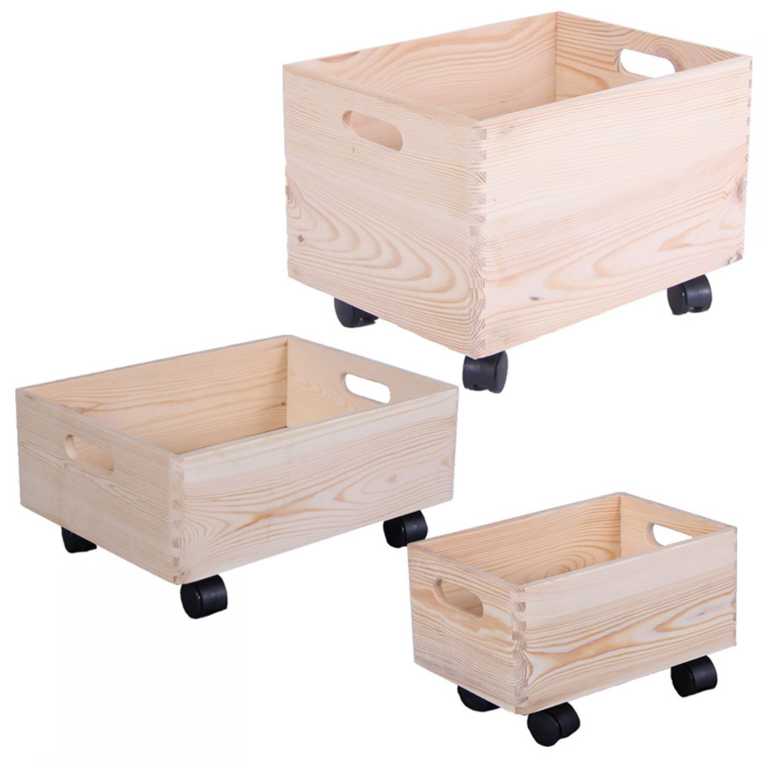 holzkiste box auf rollen aufbewahrungsbox holzbox kinderzimmer holzkasten ebay. Black Bedroom Furniture Sets. Home Design Ideas