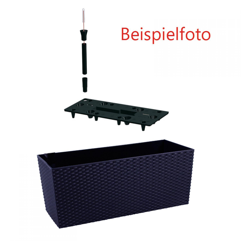blumenkasten mit wasserspeicher 51cm braun balkonkasten. Black Bedroom Furniture Sets. Home Design Ideas