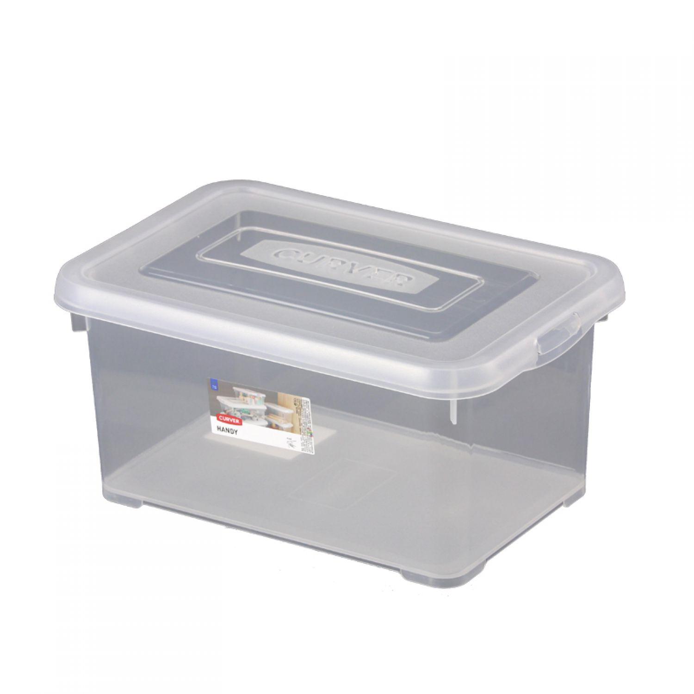 curver storage box with lid 6l transparent multipurpose box box deco ebay. Black Bedroom Furniture Sets. Home Design Ideas