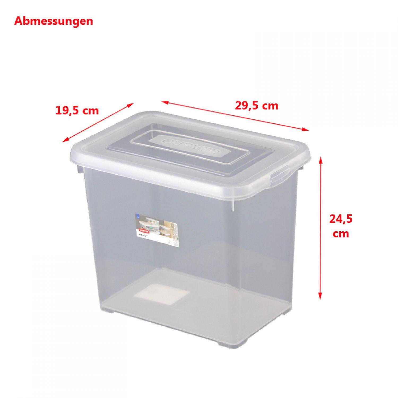 curver aufbewahrungsbox mit deckel 9l transparent. Black Bedroom Furniture Sets. Home Design Ideas