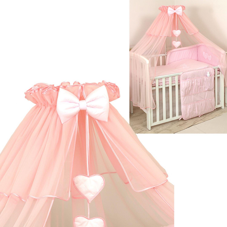 chiffon himmel 480x150cm f r baby bett moskitonetz deko. Black Bedroom Furniture Sets. Home Design Ideas
