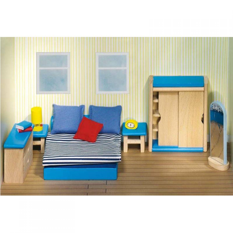 Muebles Para Muñecas Dormitorio Goki Madera Juguetes Niños Casa De