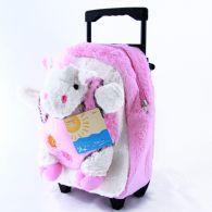 BIECO 2in1 Kindertrolley Rücksack Kuschelpferd 36cm Trolley Rücksack Tasche Kind