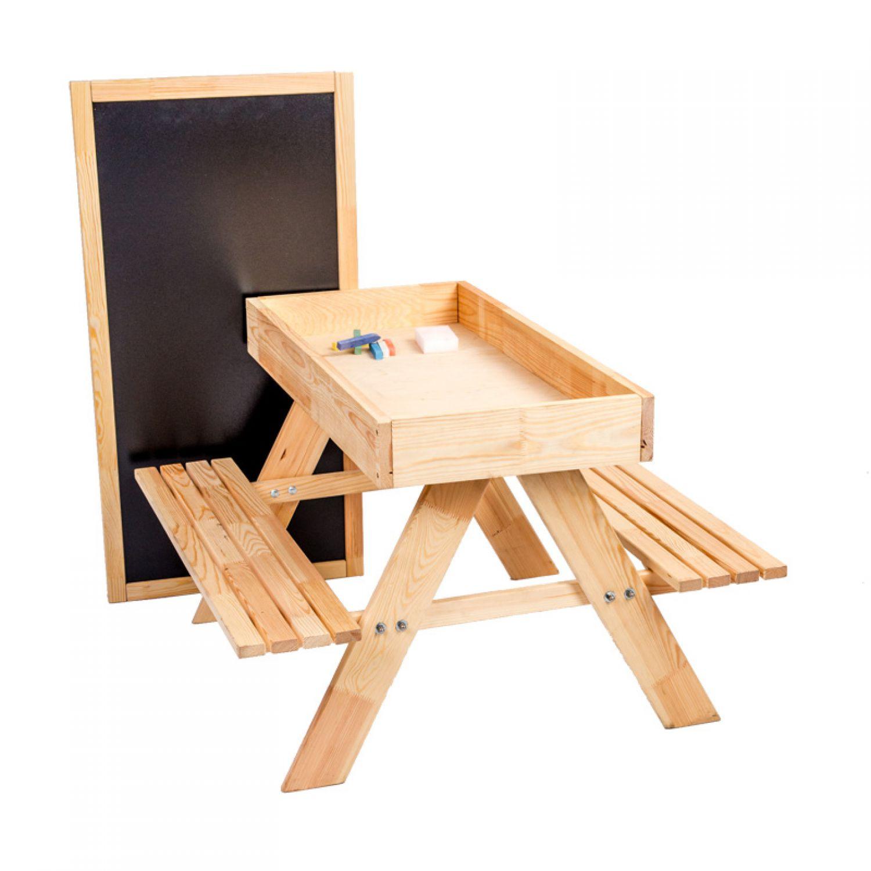 3 1 sedie e tavolo da bambini arredamento legno maltisch panca sabbiera disegno ebay. Black Bedroom Furniture Sets. Home Design Ideas