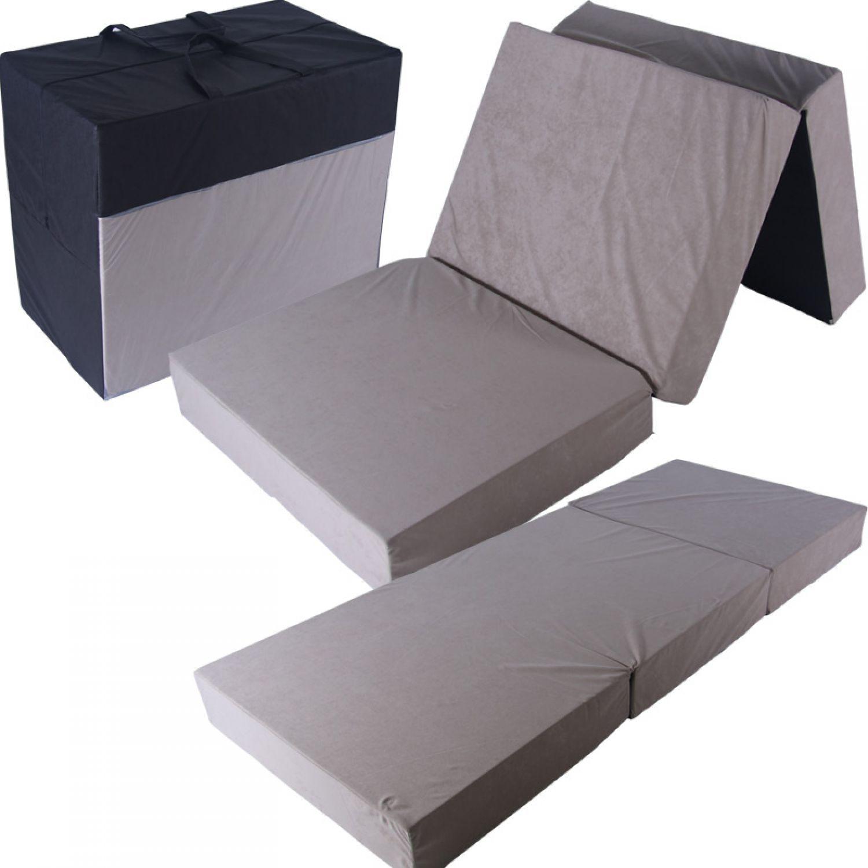 Colch n plegable 195x80x15 cama de invitados campamento ebay - Colchon para cama plegable ...