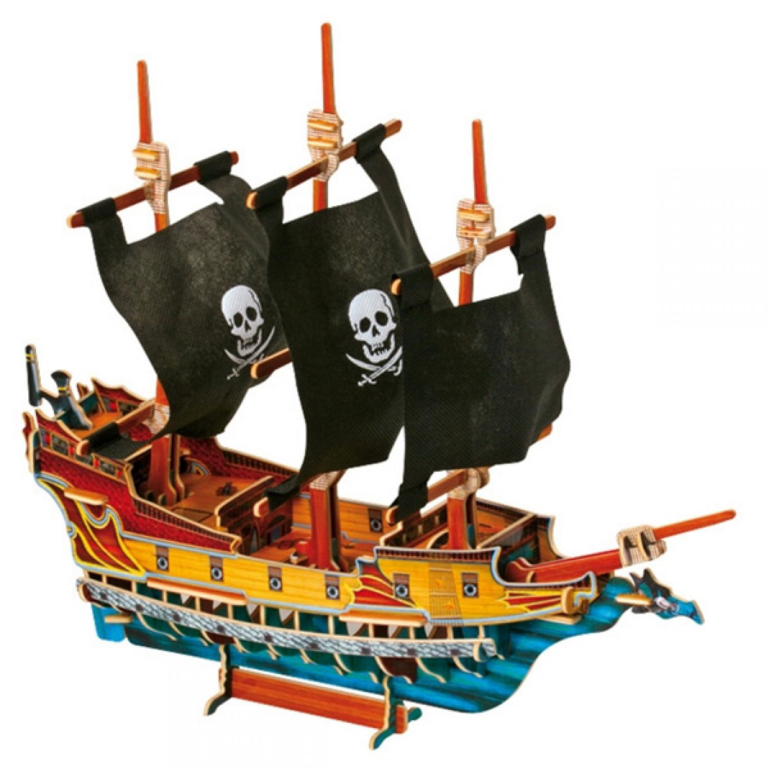 3d bateau de pirates bateau jouet maquette de bateau. Black Bedroom Furniture Sets. Home Design Ideas