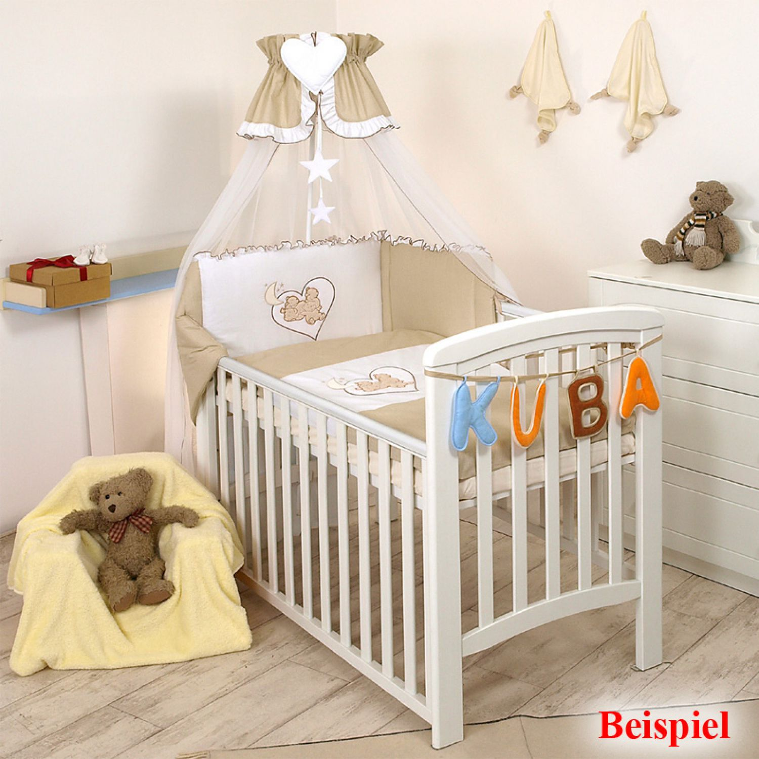 7tlg babybettw sche 135x100cm kinderbettw sche bettw sche himmel nestchen set ebay. Black Bedroom Furniture Sets. Home Design Ideas