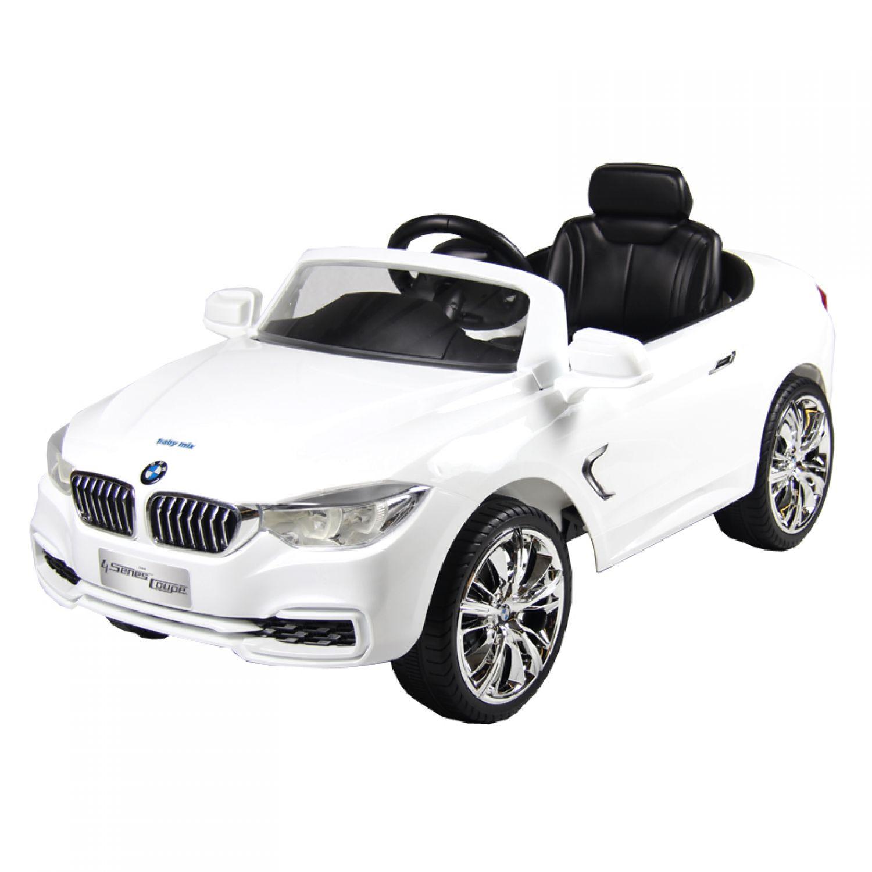 elektroauto bmw 4 coupe 120x69x52cm wei elektrisch. Black Bedroom Furniture Sets. Home Design Ideas
