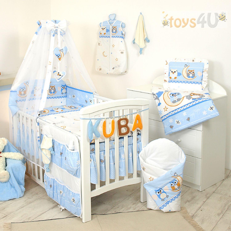 10tlg babybettw sche set 135x100cm f r 140x70cm bett blau. Black Bedroom Furniture Sets. Home Design Ideas